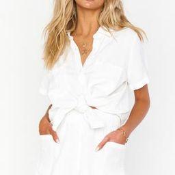 Disilvio Shorts ~ White Linen | Show Me Your Mumu
