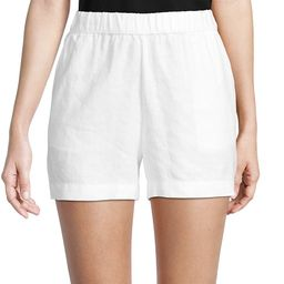 Saks Fifth Avenue Women's Linen Shorts - White - Size S | Saks Fifth Avenue OFF 5TH