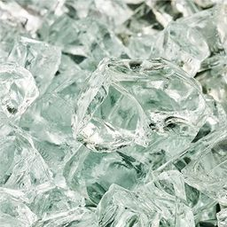 Arctic Ice - Fire Glass for Indoor and Outdoor Fire Pits or Fireplaces | 10 Pounds | 1/2 Inch | Amazon (US)