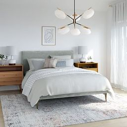 Andes Deco Upholstered Bed | West Elm (US)