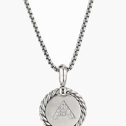 Initial Charm Necklace with Diamonds | Nordstrom