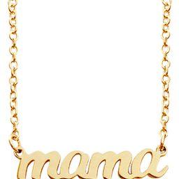 14K Gold Script Mama Pendant Necklace | Nordstrom