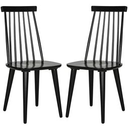 Safavieh Burris Black Dining Chair (Set of 2)   The Home Depot