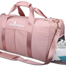 Gym Duffle Bag, with Shoe Compartment and Wet Pocket for Women Swim Sports Travel Gym Bag, 19.3 i... | Amazon (US)