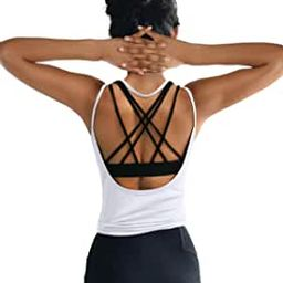 OYANUS Womens Summer Workout Tops Sexy Backless Yoga Shirts Open Back Activewear Running Sports G... | Amazon (US)