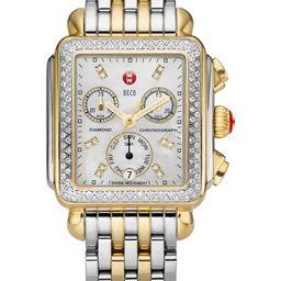 Deco Diamond Chronograph Watch Head & Bracelet, 33mm | Nordstrom