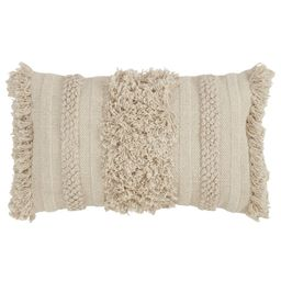 Brianne Cotton Feathers Striped Lumbar Pillow | Wayfair North America