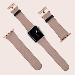 Apple Watch Strap, 40mm 38mm 42mm 44mm, Vegan Leather Watch Band, Block Solid Colour Nude Pink Wa...   Etsy (US)