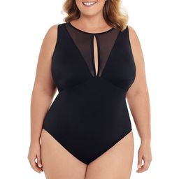 Time and Tru Women's and Women's Plus Size Mesh Insert One Piece Swimsuit   Walmart (US)