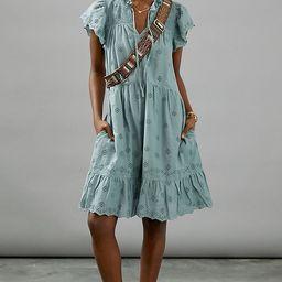 Othilia Ginevra Ruffled Mini Dress | Anthropologie (US)