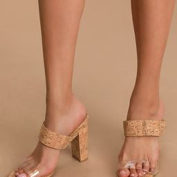 Marlowe Cork High Heel Sandals | Lulus (US)