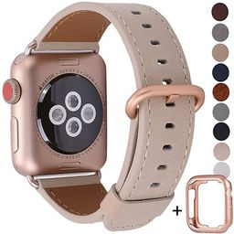 JSGJMY Compatible with Apple Watch Band 38mm 40mm 42mm 44mm Women Men Genuine Leather Strap for i...   Amazon (US)