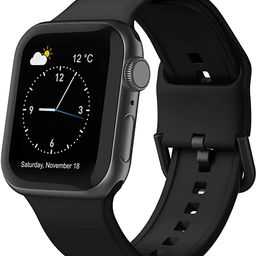 Adepoy Compatible with Apple Watch Bands 44mm 42mm 40mm 38mm, Soft Silicone Sport Wristbands Repl...   Amazon (US)