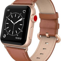 SWEES Leather Band Compatible for iWatch 38mm 40mm, Genuine Leather Replacement Strap Rose Gold B...   Amazon (US)