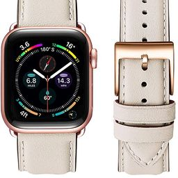OMIU Square Bands Compatible for Apple Watch 38mm 40mm 42mm 44mm, Genuine Leather Replacement Ban...   Amazon (US)