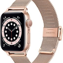 TRUMiRR Rose Gold Band for Apple Watch Series 6 / SE 38mm 40mm Women, Mesh Woven Stainless Steel ...   Amazon (US)