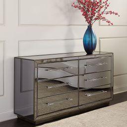Tara Mirrored 6-Drawer Dresser   Neiman Marcus