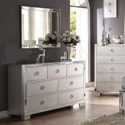 Acme Furniture Voeville II Platinum 7 Drawer Dresser with Optional Mirror   Walmart (US)