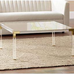 "Hanna 40"" Square Clear Acrylic Modern Coffee Table - 55 Downing Street | Amazon (US)"