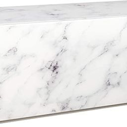 Statements by J Modern Matteo Marble Design Block Coffee Table, 50 Inch Long, White | Amazon (US)