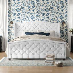 Marlon Tufted Upholstered Standard Bed   Wayfair North America