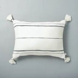 Dotted Stripes with Tassels Throw Pillow - Hearth & Hand™ with Magnolia | Target