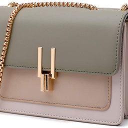 Color-Block Crossbody Bags for Women Leather Cross Body Purses Cute Designer Handbags Shoulder Ba...   Amazon (US)