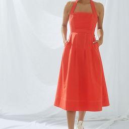Maeve Alessandra Cross-Back Midi Dress | Anthropologie (US)