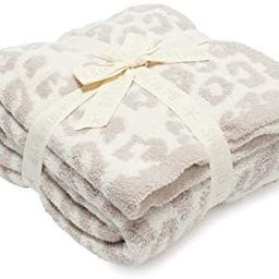 Barefoot Dreams CozyChic Barefoot in The Wild Throw Stone/Cream One Size | Amazon (US)