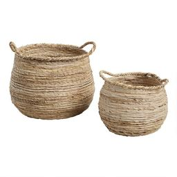 Banana Leaf Cora Tote Basket | World Market