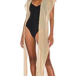 Luli Fama Golden Queen Long Caftan in Gold Rush from Revolve.com | Revolve Clothing (Global)