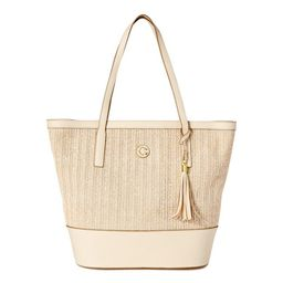 MEADOW LARGE TOTE STRAW WITH TEXTURE PU   Walmart (US)