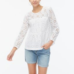 Eyelet tiered popover top | J.Crew Factory