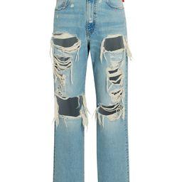 Boyfriend Distressed Straight-Leg Jeans | INTERMIX