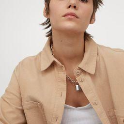 Oversized Corduroy Shirt   H&M (US)