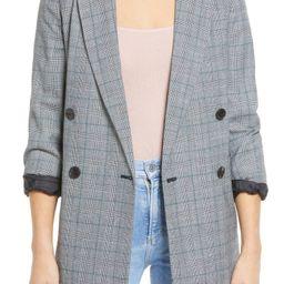 Glen Plaid Double Breasted Wool Blend Blazer | Nordstrom