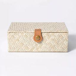 "2.5"" x 7"" Pandan Zig-Zag Woven Box - Threshold™ designed with Studio McGee | Target"