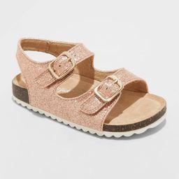Toddler Girls' Tisha Footbed Sandals - Cat & Jack Rose Gold 11 | Target