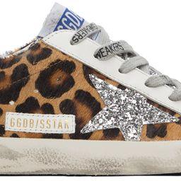 Silver Leopard Super-Star Sneakers | SSENSE