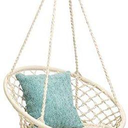 Mertonzo Hammock Swing Chair for 2-16 Years Old Kids,Handmade Knitted Macrame Hanging Swing Chair... | Amazon (US)