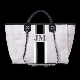 The Lily Canvas Weekend Washed Grey with White, Grey and Black as per Photo JUMBO | Lily and Bean