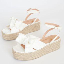 Rayanna White Espadrille Platform Sandals   Lulus (US)