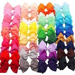"""JOYOYO 40 Colors 4"""" Hair Bows Clips Girls Pigtail Bows Alligator Clips for Baby Girls Fine Hair I...   Amazon (US)"""