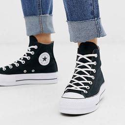 Converse Chuck Taylor All Star Hi canvas platform sneakers in black   ASOS (Global)