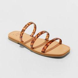 Women's Wren Triple Strap Sandals - A New Day™   Target