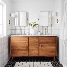 "Mid-Century Double Bathroom Vanity (63"") - Acorn | West Elm (US)"
