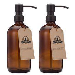 Glass Soap & Lotion Dispenser (Set of 2) | Wayfair North America