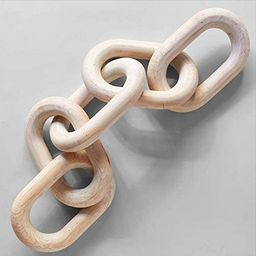 Wood Chain Link Decor Hand Carved Wooden 5-Link Chain Decor for Home Coffee Table Farmhouse Books...   Amazon (US)