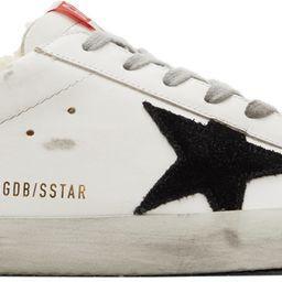 White & Black Superstar Sneakers | SSENSE