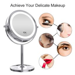 LED Makeup Mirror with Touch Screen Adjustable LED Light, 7 Inch Lighted Vanity Swivel Mirror 1x/... | Amazon (US)